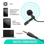 Ultimate-Lavalier-Microphone-for-Bloggers-and-Vloggers-Lapel-Mic-Clip-on-Omnidirectional-Condenser-for-iPhone-Ipad-Samsung-Android-Windows-Smartphones