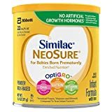 Similac NeoSure Infant Formula with Iron, For Babies Born Prematurely, Powder, 13.1 ounces (Pack of 6)