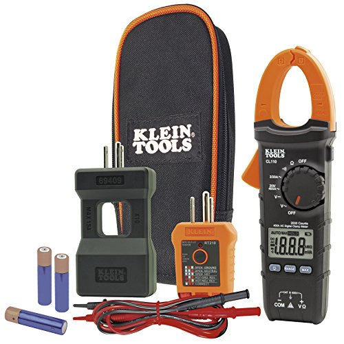 Klein Tools CL110KIT Electrical Maintenance & Test Kit For AC/DC Voltage,...