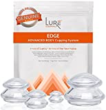 Cupping Therapy Massage Sets Edge Firm - Silicone Vacuum Suction Cupping Cups for Muscle and Joint Pain Cellulite & More (Clear, 4)