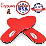 Samurai Insoles Instant Relief Orthotics for Flat Feet - Plantar Fasciitis Pain Relief Guaranteed, Arch Support Shoe Insert Insoles for Foot and Heel Pain M10-10.5/W12-12.5