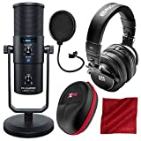 M-Audio Uber Mic USB Microphone with Headphone Output and PreSonus HD9 Headphones Deluxe Bundle