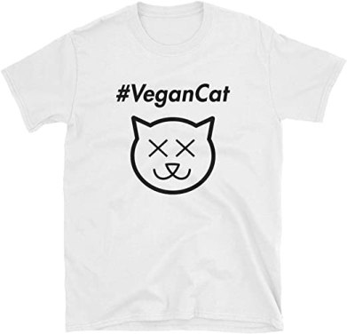 Joe Rogan Vegan Cat #VeganCat Short-Sleeve T-Shirt | Amazon.com