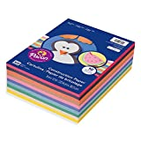 """Pacon Lightweight Super Value Construction Paper 6555, 9"""" x 12"""", 10 Assorted Colors, 500 Sheets"""