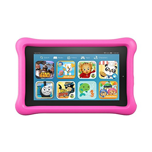 """Fire Kids Edition Tablet, 7"""" Display, Wi Fi, 16 GB, Pink Kid Proof Case  Image of 51gKvEWQuxL"""
