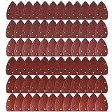 LEOBRO 72 Pcs 140mm Mouse Detail Sander Sandpaper Sander Pads Sanding Sheets Assorted 40 60 80 120 240 Grits Shipping by FBA