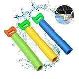 Water Guns for Kids, Blaster Water Guns, Shooting Up to 30 Feet, Light Weight Super Soaker Foam Water Guns for Swimming Pool Back Yard Outdoor Beach Drifting, Summer Fun Toys, 3 Pack