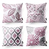 Phantoscope New Living Series Decorative Throw Pillow Case Cushion Cover 18' x 18' 45cm x 45cm Set of 4
