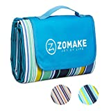 ZOMAKE Picnic Outdoor Blanket with Waterproof Backing, Portable Machine Washable Oversized Mat for Beach,Camping,Park,Music Festivals (80'x 60')