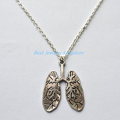 Human Lungs Necklace Science Necklace Biology Necklace Anatomical Necklace Lungs Jewelry Anatomy Jewelry Biology Gift best gift Pendant Necklace