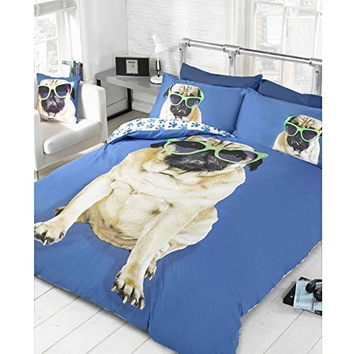 Pug Duvet Cover Double