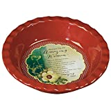 Abbey Gift Amazing Woman Deep-Dish Pie Plate