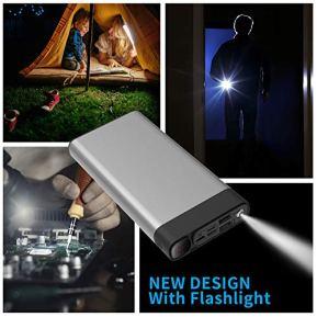 Portable-Charger-30000mAh-2USB-PortsSuper-Bright-Flashlight-Portable-Charger-Quick-Charge-Phone-Pad-Black-30000mAh