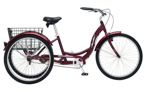 Schwinn Meridian Full Size Adult Tricycle 26 wheel size Bike Trike, red