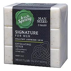 Irish Spring Signature Exfoliating Bar Soap, 6oz, 3 Count  Image 1
