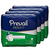 Prevail Per-Fit Maximum Absorbency Incontinence Briefs Extra Large 60 Total Count Breathable Rapid Absorption Discreet Comfort Fit Adult Diapers