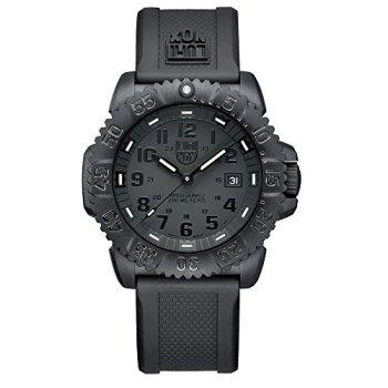 Luminox Men's 3051.BO Navy Seal Colormark 3050 Series, Quartz Movement With Rubber Band, Black Watch