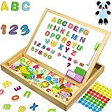 JQP XL Wooden Magnetic Letters Numbers Animals Set |16'' x 12'' inch | 151 Pcs | Whiteboard and Blackboard Writing Reading Drawing Whiteboard Blackboard | Learning Wooden Puzzle | 3 to 6 Years Old
