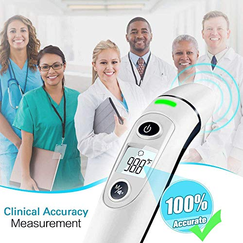 [ New Generation]Forehead and Ear Thermometer, 5-in-1 Digital Medical Thermometer, Infrared Fever Thermometer with New Algorithm for Best Accuracy, for Infant Baby Children and Adults deal 50% off 51gcXCAp8CL