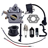 Savior Carburetor Ignition Coil with Gasket Spark Plug Fuel Line for Stihl MS180 MS170 017 018 Chainsaw