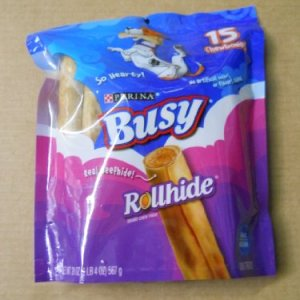 Busy Rollhide Dog Treats 15 Rolls, 20 Oz. pack 12