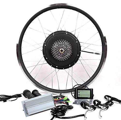 """LCD + 8 or 9 Speed gear + 48V1000W Cassette Electric Bicycle E Bike Hub Motor Conversion Kit (26"""" Wheel, Rear Wheel + 9 Speed Gear)"""