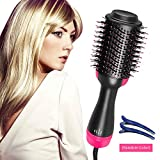 Blow Dryer Brush, Electric Hair brush, 2 in 1 Hair Dryers Brush, One Step Hair Dryer And Styler & Volumizerr, Hot Air Brush, Ceramic Brush Blow Dryer Straightener & Curler Brush Reduce Frizz And Knott