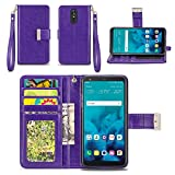 LG Stylo 4 / LG Q Stylus Case - IZENGATE Wallet Cover PU Leather Flip Folio with Stand (Purple)