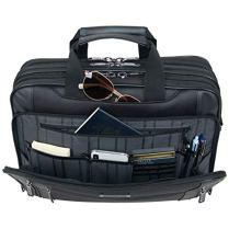 Kenneth-Cole-Reaction-Keystone-1680d-Polyester-Dual-Compartment-17-Laptop-Business-Portfolio-Black