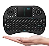 Rii i8 2.4G Mini Wireless Keyboard with Touchpad&QWERTY Keyboard, Portable Wireless Keyboard with USB Receiver Remote Control for laptop/PC/Tablets/ Windows/Mac/TV/Xbox/PS3/Raspberry Pi .Black