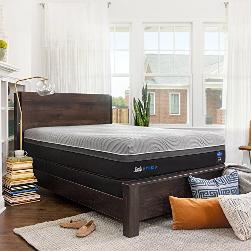 Sealy Posturepedic Hybrid Performance Kelburn 13-Inch Medium Firm Cooling Mattress, King, Made in USA,  10 Year Warranty
