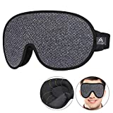 3D Contoured Sleeping Eye Mask - 99% Blindfold & Lights Blockout Sleep Mask for Men Women, Comfortable & Light Weight Eye Cover for Travel/Nap/Night's Sleeping, No Pressure On Your Eyes