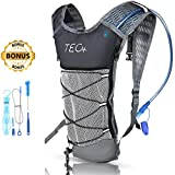 TEC Insulated Hydration Backpack & 2L BPA Free Water Pack for Hiking, Cycling, Running & Outdoor Activities. Compact & Lightweight. Water Stays Cool up to 5 Hours [+ Bonus Cleaning Kit and e-Guide]