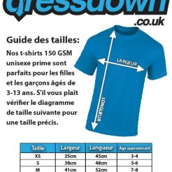 Dressdown-Fabrique-en-Besanon-100-Authentique-T-Shirt-pour-Enfant-10-Couleurs-3-14-Ans