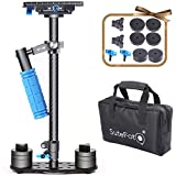 Sutefoto Handheld Camera Stabilizer DSLR Gimbal Steadicam Carbon Fiber 24'/60cm up to 6.61lbs/3kg with Quick Release Plate 1/4' and 3/8' Screw Compatible with Nikon/Canon/Sony/Panasonic and Video DV