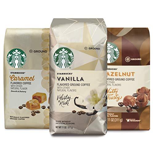 Starbucks Ground Coffee Vanilla Hazelnut Caramel