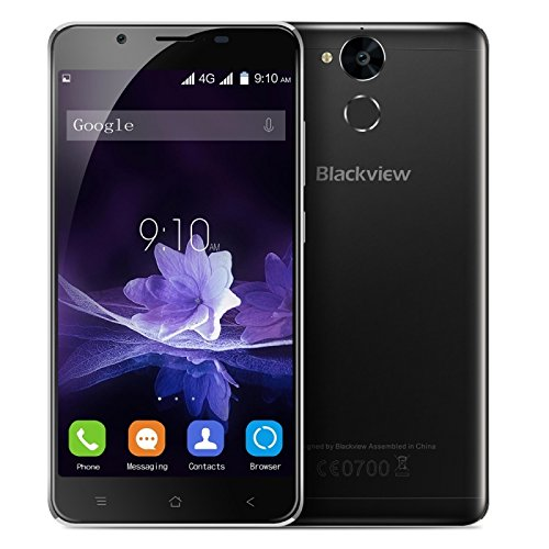 Blackview P2 64GB 5.5 Inch Android 6.0 Smartphone, MTK6750T Octa Core up to 1.5GHz, 4GB RAM GSM & WCDMA & FDD-LTE (Black)