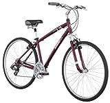 Diamondback Edgewood LX Men's Sport Hybrid Bike (700c Wheels), Burgundy, Large/19-Inch
