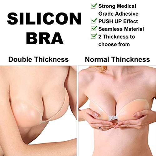 Secret Admirer Women's Silicone Stick-On Bra