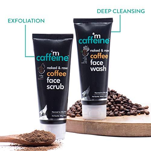 51gtMhlM4 L mCaffeine Coffee Anti Pollution Kit   Deep Cleanse, Blackheads Removal   Face Wash (100ml), Face Scrub(100gm)   Oily/Normal Skin   Paraben & SLS Free