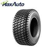 MaxAuto 16/6.50-8 16-6.5-8 Turf Tires 4 Ply Tubeless Lawn Mower Tractor 16x6.5x8(Pack of 2)