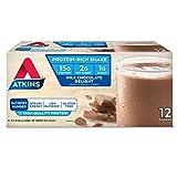 Atkins Gluten Free Protein-Rich Shake, Milk Chocolate Delight, Keto Friendly, 12 Count