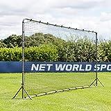 Forza Soccer Rebound Wall (12ft x 6ft or 16ft x 7ft) – Dual-Sided Soccer Rebounder | Freestanding Spring-Loaded Soccer Rebound Net [Net World Sports]