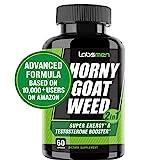 LabsMen 2-in-1 Horny Goat Weed Extract with Epimedium (13mg Icariin), Maca, Tribulus Terrestris, L Arginine & Ginseng – Testosterone Booster for Men | Enhance Stamina, Performance & Libido