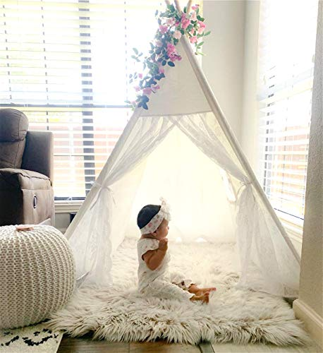 Avrsol Lace Teepee For Girls Kid Teepee Boho Tipi Tent Kids Room Decor With 6 5ft Rose Vine Flowers Pricepulse