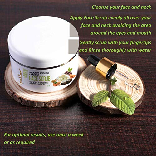 51gzVYHq eL - Green & Brown 7in1facescrub Exfoliating and Moisturizing with Sandalwood, Passion Fruit, Grapefruit, Shea Butter, Jojoba Oil and Almond Oil For Men and Women, White, 200 ml