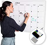 Large Dry Erase Laminated Wall Calendar 24' Inch by 36' Inch Size by Earlyadopters   [2019 New Clean Design] Premium Huge Monthly Planner for Office, Classroom, and Home Use