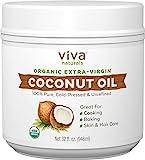 Viva Naturals Organic Extra Virgin Coconut Oil, 32 oz Ideal Oil as Hair Detanglers & Softeners