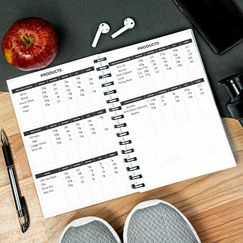 Clever Fox Fitness & Workout Journal/Planner Daily Exercise Log Book to Track Your Lifts, Cardio, Body Weight Tracker - Spiral-Bound, Laminated Cover, Thick Pages, A5 8