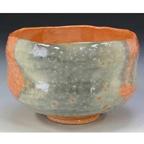 Kiyomizu-kyo yaki ware. Japanese Matcha chawan teabowl Aka raku horin with wooden box. Ceramic. kymz-TSH738